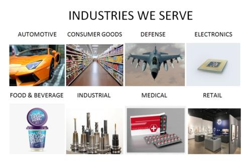 A sampling of the industries we proudly serve